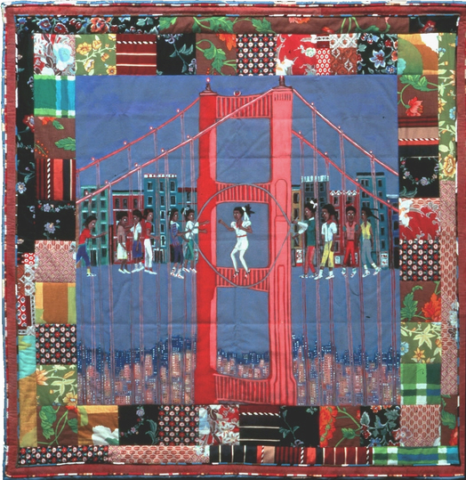 describe faith ringgold s tar beach painting She has written and illustrated eleven children's books, and her first book, tar beach was a caldecott honor book and winner of the coretta scott king award for illustration, among numerous.